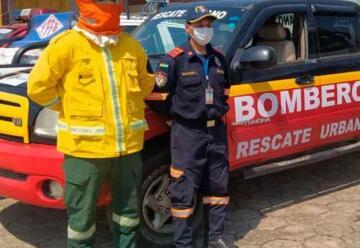 Bomberos de Rescate Urbano reciben un vehículo dotado por el Gobierno