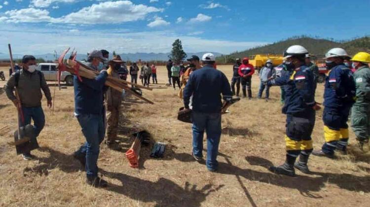Bomberos forestales de San Lorenzo recibieron materiales