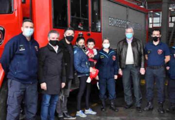 Reconocimiento a los Bomberos del Cuartel X de Lugano