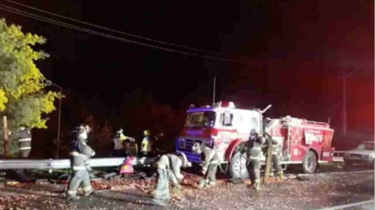 Bomberos irá a la justicia para que Autopista reponga carro accidentado