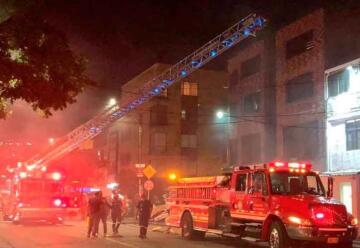 Un bombero resultó herido durante incendio en Cali