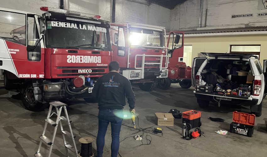 Bomberos Voluntarios de General La Madrid mejora su equipamiento