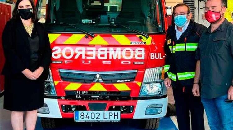 Presentado el camión de bomberos adaptado para el casco antiguo