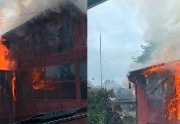 Un incendio destruyó un cuartel de Bomberos en San Patricio