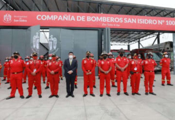 Bomberos del Perú cuentan con nueva estación en San Isidro