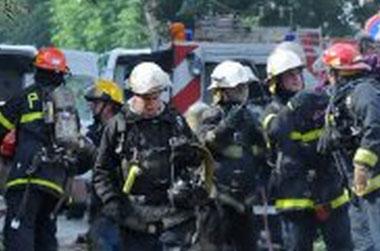 Trágico incendio con 5 bomberos muertos